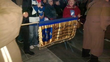 Here is the banner for the Krewe of Jeanne d