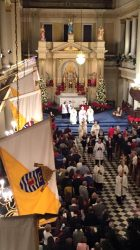 Here is a picture of the clergy processing out of church after mass.