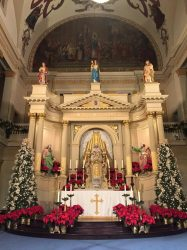 Another picture of the Cathedral beautifully decorated altar.
