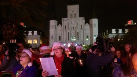 Jackson Square was packed with carollers on Sunday night.