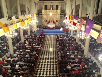 As usual, the Cathedral was packed for midnight mass.