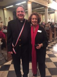Fr. Phillip Landry and Cathedral Minister of Hosppitality Janice Foulks enjoy Dillard University Choir