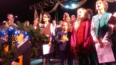 People of all ages enjoyed singing their favorite Christmas carols.